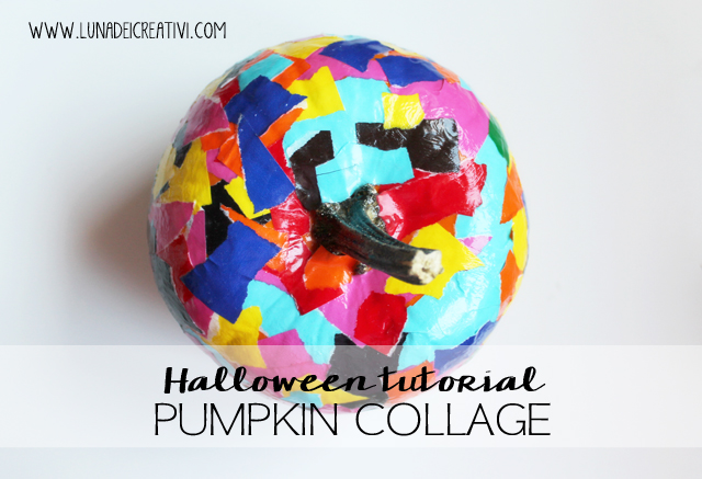 Zucca di Halloween: Decorazione Collage per Bimbi