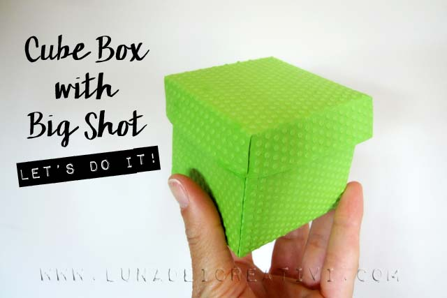 Scatola Cubo con Big Shot – Sizzix Dictionary – 13