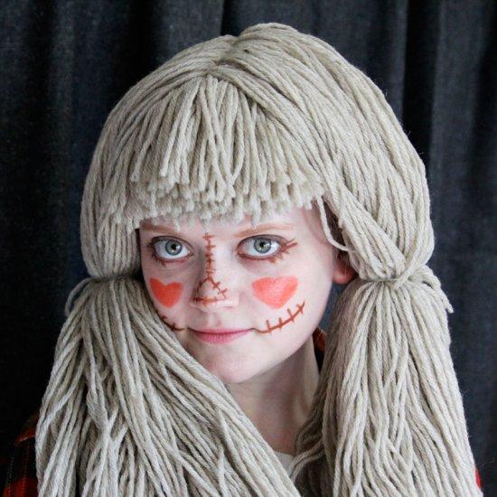 parrucca da bambola assassina