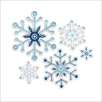 "set di Framelits con Timbri ""Snowflakes"" by Paula Pascual"