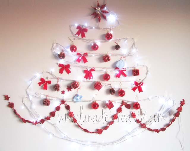 Le Luci! E il tuo albero di Natale DIY è pronto per illuminare la tua casa!