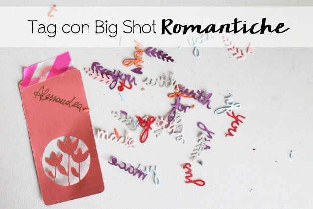Tag con Big Shot (Thinlits) - Sizzix Dictionary - 15