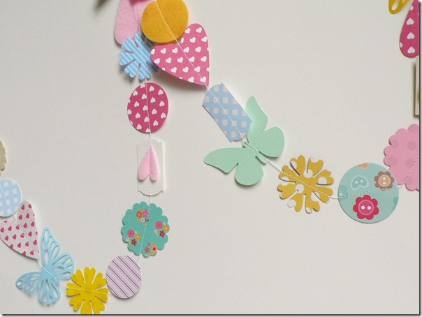 big shot sizzix - paper garland