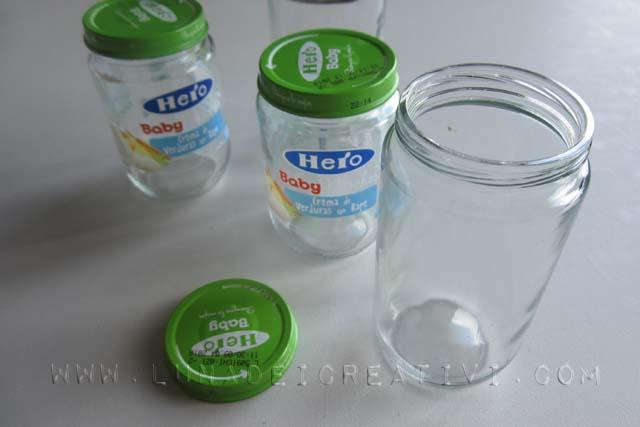 barattoli di vetro da riciclare