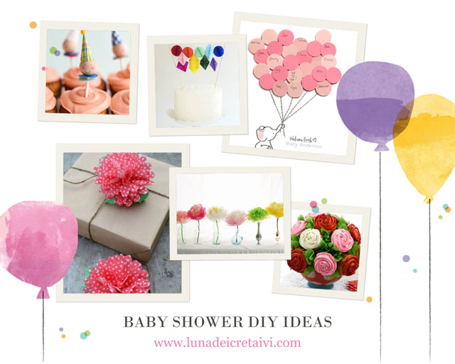 baby shower diy 10 idee a d o r a b i l i lunadei creativi. Black Bedroom Furniture Sets. Home Design Ideas