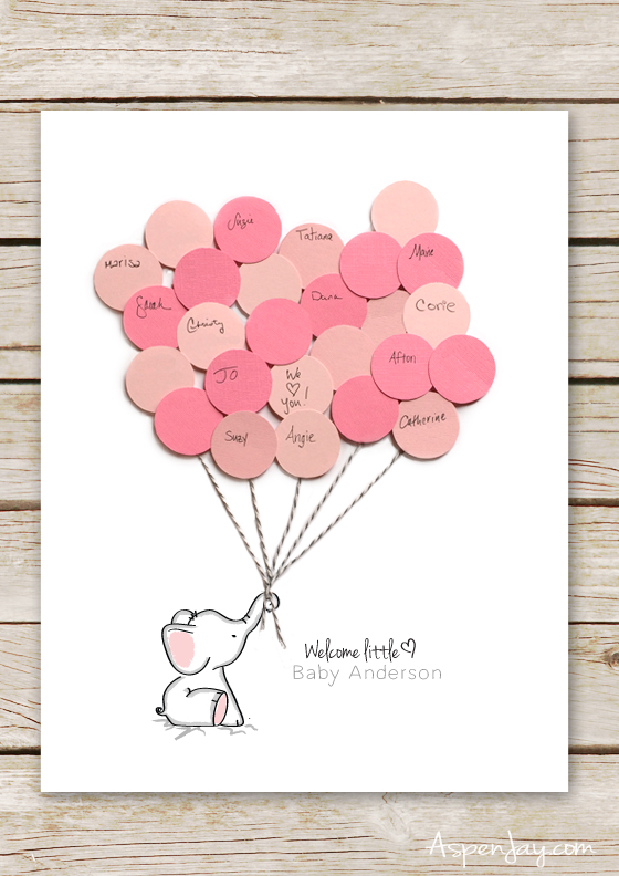 elephant baby shower guest books