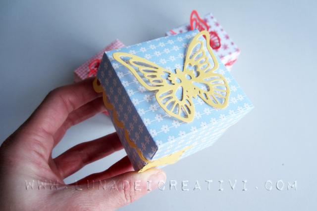 scatola con farfalla fatta con big shot
