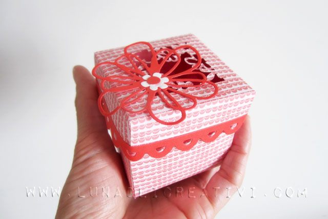 scatola con fiore big shot