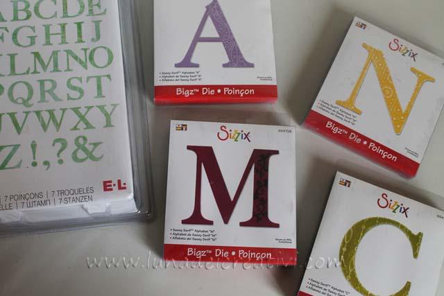 alfabeto sizzix big shot grande e piccolo