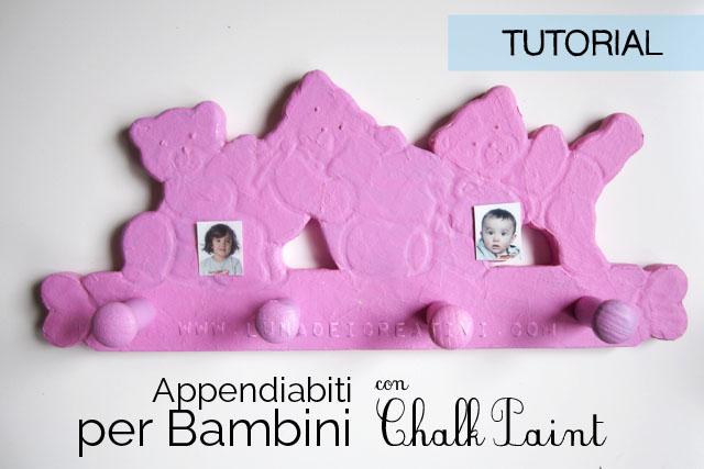 Appendiabiti per Bambini con Chalk Paint e...Foto!