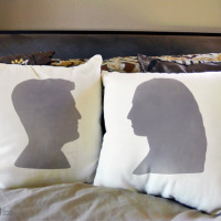 DIY-Project-Silhouette-Ink Effects-Paint-His-Hers-Pillow-Craft