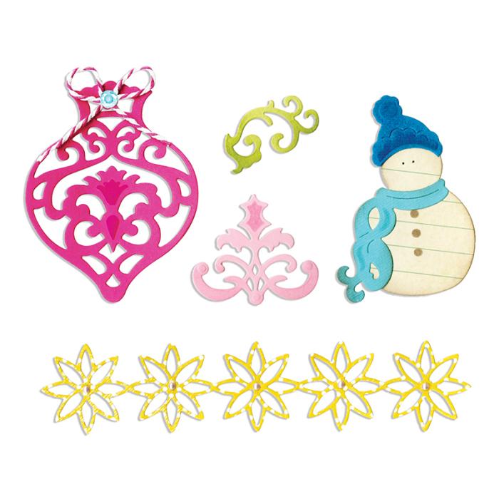 fustelle natalizie (pupazzo neve)