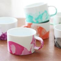 diy marbled mugs
