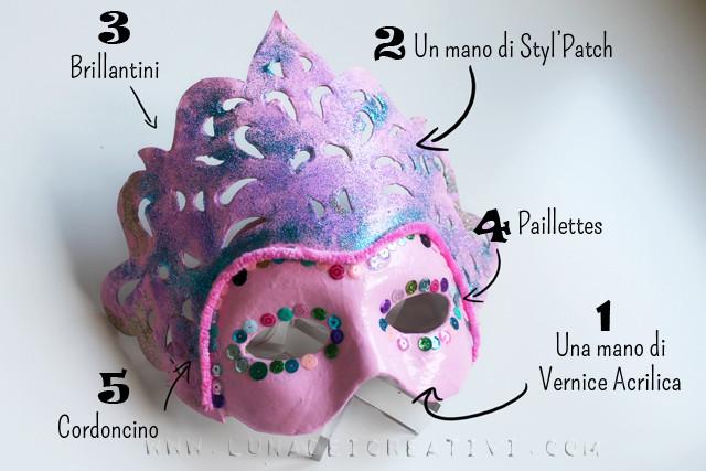 maschera veneziana tutorial passo passo